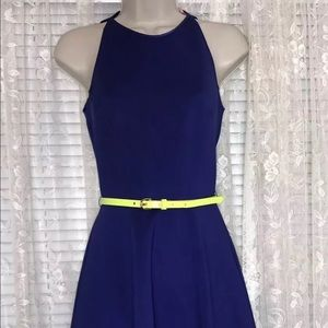 Ted Baker Sew In Love Purple - Neon Belted Skater